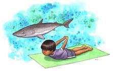 S Letter For Shark Yoga Alphabet ABCs Of Kids