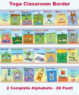 Addriya Learn With Yoga ABC Classroom Borders Poster